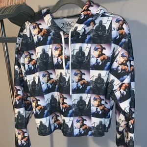 Forever 21 Tupac Crop Sweater